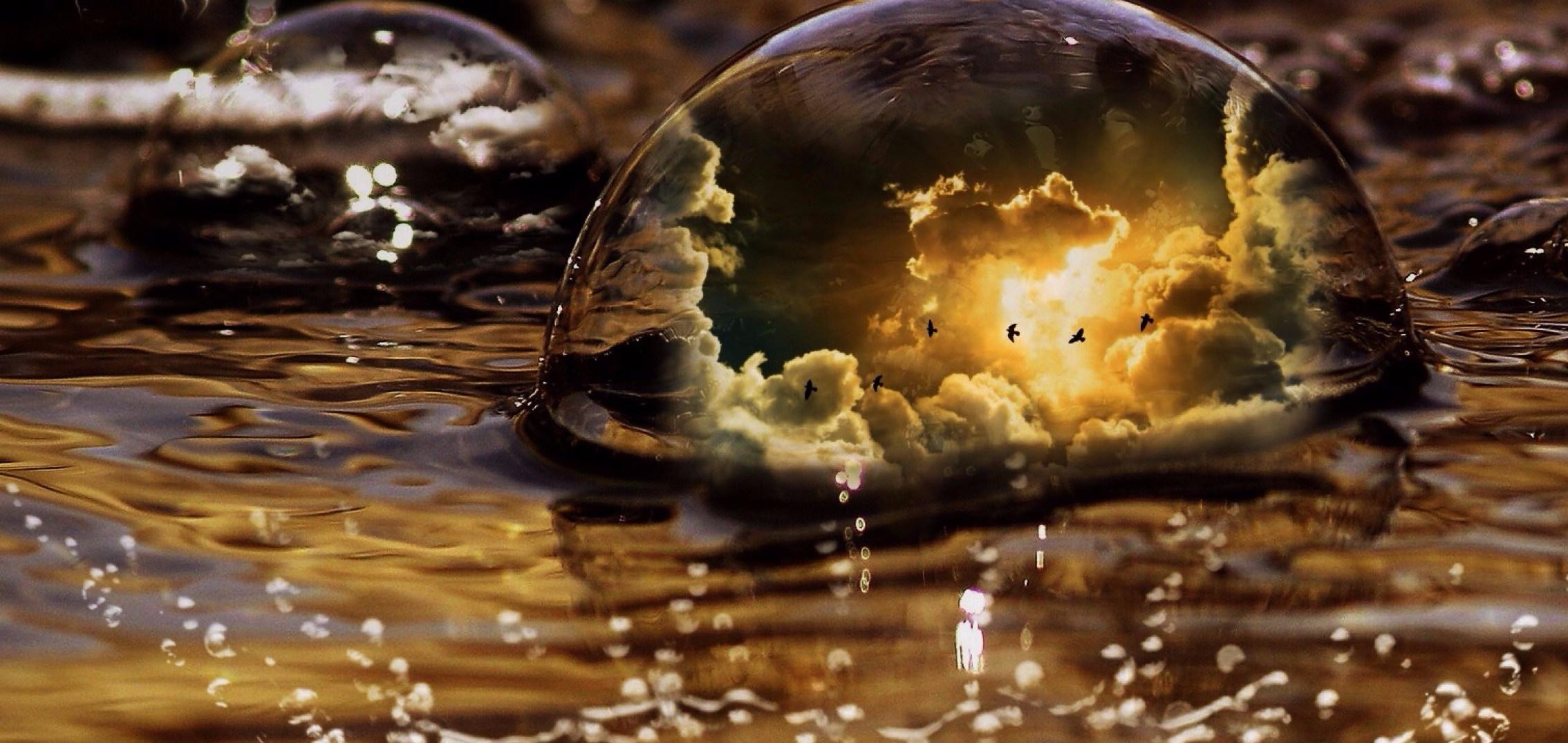 water-464953 bulle oiseau soleil or